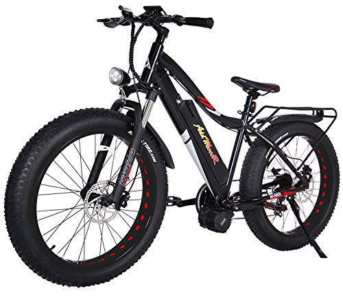 Addmotor MOTAN Electric Bikes Snow Beach Fat Ebikes 26Inch Electric Bicycles Bafang 48V1000W Middle Hub Brushless Motor 17.5AH Lithium Battery Electric Fat Bikes M-5800 E-bike (Black/Red)