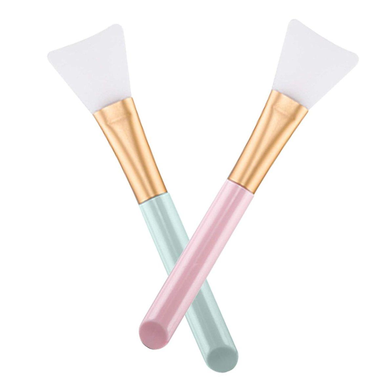 2 PCS Silikon Masken Bürsten, Silikon Gesichtsmaske Pinsel, Haarlose Weiche Gesichtsmasken Bürsten, Schmierwerkzeug für Gesicht und Körper
