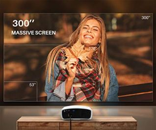 VIVIMAGE-Explore-3-Projector-for-Outdoor-Movies-Home-Theatre-FHD-300-Native-1080P-Projector-60Hz-Compatible-TV-Stick-2-HDMI-VGA-Smartphone-PC-TV-Box-PS4-40-Electronic-Keystone-Correction