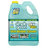 SIMPLE GREEN Oxy Solve Total Outdoor Pressure Washer Cleaner - Removes Stains from Mold, Mildew & Dirt on Patios, Outdoor Rugs & Furniture - Cleans RVs, Boats & Vehicles - Concentrate 1 Gal.