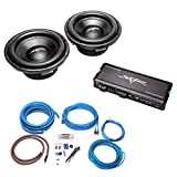 (2) Skar Audio VD-10 D4 500 Watt RMS Subwoofers with LP-750.1Dv2 Monoblock Sub Amplifier and 4 Gauge Amp Kit