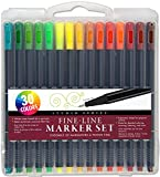 Studio Series Fine-Line Marker Set (30 colors, 0.4mm tip)(Perfect for Coloring and Bullet Journaling)