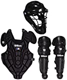 Wilson WTA368400SM Youth EZ Gear Catcher's Kit, Small/Medium/5-7 Years, Black