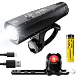 Victagen USB Rechargeable Bike Safety LED Light Set, Free Taillight, 1000 Lumens Power, IP65 Waterproof, Bicycle Headlight; Easy to Install Light on Front Rear