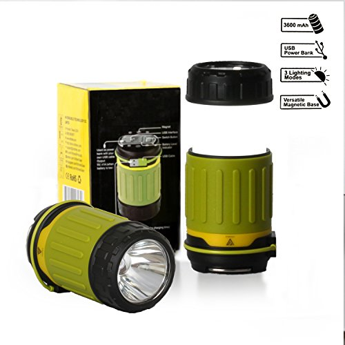 Vitchelo Hurricane Lamp & Camping Lantern by LED Emergency Lights for Vehicles, Home, with 3 Light Modes, Power Bank & USB Port - Battery Operated Lanterns Rechargeable, Bright & Compact