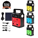 UPEOR Portable Solar Generator Lighting System with Solar Panel, Portable Solar Power Generator Kit, Emergency Solar geneator, Solar Power Inverter, Electric Generator,Solar Powered Charger