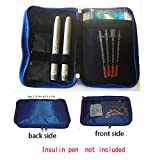 Chill Pack (New) Diabetic/Medication Cooler Travel Case- for Insulin Pen, Syringes, 8 oz. Ice Pack, Blue