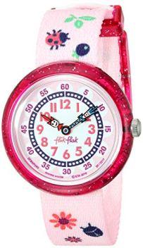 Flik Flak Kids' Quartz Nylon Strap, Pink, 14 Casual Watch (Model: ZFBNP093)