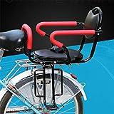 GFYWZ Bicycle Rear Seat Kids Cushion Footrest Set, Child Bike Back Seat Armrest Seat Cushion, Detachable Fence Armrest and Pedal