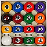 Collapsar Deluxe 2-1/4 Inch Regulation Size Billiards Pool Table Billiard Ball Set Complete 16 Pool Balls Set (Several Style Available) (Modern Style)