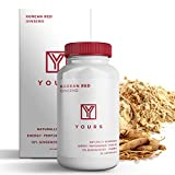 Authentic Korean Red Panax Ginseng - 10% Ginsenosides Organic 750mg Korean Red Ginseng Vegan Capsules - 30 Day Supply - Potent Red Ginseng Boosts Energy & Focus - Korean Ginseng Amplifies Cognition &