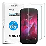 OMOTON Moto Z2 Force Screen Protector [2 Pack]- [9H Hardness] [Crystal Clear] [Bubble Free] Tempered Glass Screen Protector for Motorola Moto Z2 Force Edition/Moto Z Force (2nd Generation)