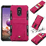 LG Stylo 4, LG Q Stylus, LG Stylo 4 Plus, Stylus 4 Wallet Case, 5 ID Credit Card Slot, Button Flip-Out Leather Drop Protection Case - Pink