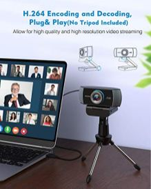 Full-HD-Webcam-1080P-Streaming-Camera-Widescreen-Video-Calling-and-Recording-with-Microphone-USB-Wide-Angle-Skype-Camera-with-Facial-Enhancement-Technology-Desktop-LaptopYouTube-Xbox