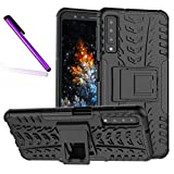 A7 2018 (A750) Case, Tyre Pattern Design Heavy Duty Tough Armor Extreme Protection Case with Kickstand Shock Absorbing Detachable 2 in 1 Case Cover for Samsung Galaxy A7 (2018) SM-A750. Hyun Black