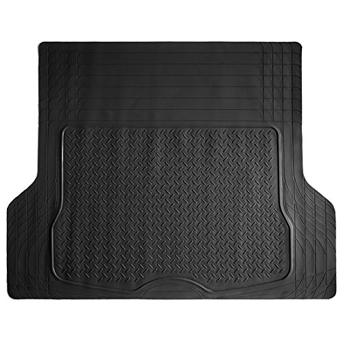 COPAP Heavy Duty HD Rubber Cargo Liner Floor Mat Weathershield Trim-to-Fit All Season Protection for Cars, SUVs, Vans, Truck (Black)