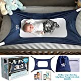 Baby Hammock for Crib by Baby Xips - Mimics Womb Encourages Safe Sleep - 3X Layer Breathable Mesh - Crib Hammock fits Standard Large Small Bassinet Cribs Bed - for Newborn Infants - Portable Sleeper