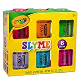 Crayola Slyme Ooey Gooey Sparkling Slime - Non Sticky Clean and Stretchy Putty - 6 Pack 4 Ounce Tubs