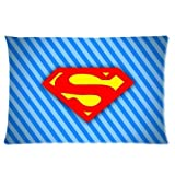 BALLEE Superman Man of Steel Logo Decorative Soft Rectangle Pillowcase 16'' x 24'' (one side) Pillow Cover