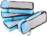 AmazonBasics 4-Piece Packing Cube Set - Slim, Sky Blue