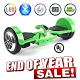 Levit8ion Ultra 7.5' Hoverboard Self Balancing 2 Wheel Electric Scooter UL 2272 Certified w/Fireproof Detachable Samsung Battery, Bluetooth and Speed/Temp LCD Screen - Green