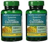 Puritan's Pride 2 Pack of Turmeric Curcumin 1000 mg Puritan's Pride Turmeric Curcumin 1000 mg-60 Capsules
