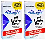 Alkalife Naturals pH Booster Drops (Pack of 2) with Potassium Hydroxide and Sodium Hydroxide, 1.25 Oz Each
