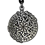 Pewter Invincibility in Battle Aegishjalmur Norse Viking Rune Pendant
