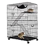 Giantex 2-Tier Cat Playpen Cat Cage with 2 Climbing Ladders & 2 Rest Benches & Hammock (2-Tier)