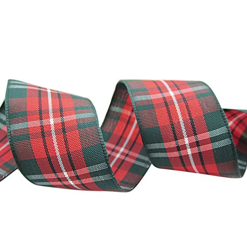 Ornerx Retro Plaid Ribbon Christmas Gift Wrapping 1