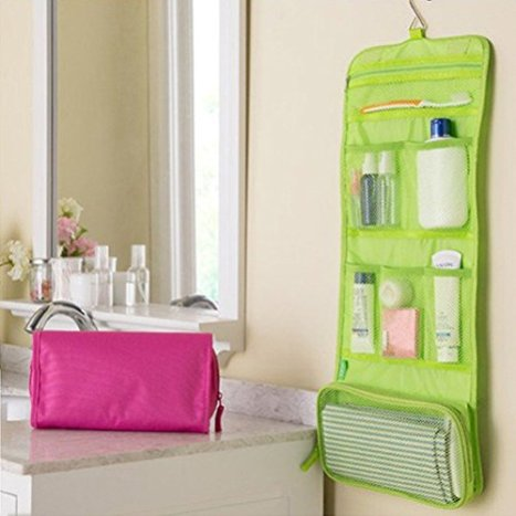 ed29354d54 Yosoo Hanging Toiletry Bag Bathroom Makeup Cosmetic or Shaving Kit Portable  Travel Case Wash Shower Bag Folding Organizer Household Storage Pack ...