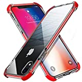 MATEPROX iPhone XR Case Clear Anti-Yellow Heavy Duty Bumper Protective Shockproof Case for iPhone XR 6.1''(Red)