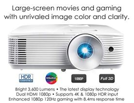 Optoma-HD28HDR-1080p-Home-Theater-Projector-for-Gaming-and-Movies-Support-for-4K-Input-HDR-Compatible-120Hz-refresh-rate-Enhanced-Gaming-Mode-84ms-Response-Time-High-Bright-3600-lumens