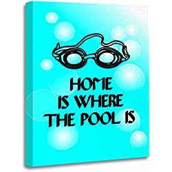 """TORASS Canvas Wall Art Print Swimming Funny Swim Quote Jokes Quotes Swimmers Pool Artwork for Home Decor 12"""" x 16"""""""