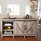 "Better Homes and Gardens Modern Farmhouse TV Stand/Entertainment Center for TVs up to 60"", Rustic Gray Finish"