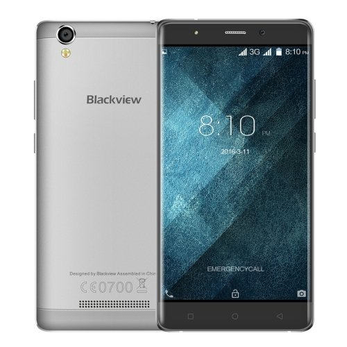 Blackview A8 5.0 Inch Android 5.1 Smartphone, MT6580A Quad Core 1.3GHz, 1GB RAM + 8GB ROM GSM & WCDMA (Grey)
