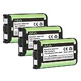 iMah HHR-P104 Cordless Phone Battery Compatible with Panasonic HHR-P104A/B KX-FG6550 KX-FPG391 KX-TG2302 KX-TG2303 KX-TG2312 KX-TG2356 KX-TG2357 KX-TG2382B KX-TG2386B KX-TG2388B KX-TG2396, 3-Pack