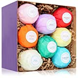 HanZá 8 Bath Bombs Gift Set Ideas - Vegan Gifts For Women, Mom, Girls, Teens, Her, Mothers, Wife - Ultra Lush Spa Fizzies - Add to Bath Bubbles, Bath Beads, Bath Pearls & Flakes