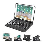 BATTOP iPad Mini Keyboard - Swivel 360 Degree Rotatable Bluetooth Keyboard Case - iPad Mini Bluetooth Keyboard - Compatible ipad Mini 3 / iPad Mini 2 / iPad Mini -Black