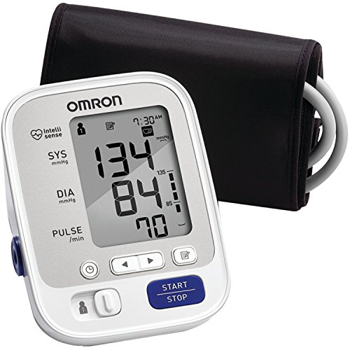 Omron BP742N 5 Series Upper Arm Blood Pressure Monitor with Cuff that fits Standard and Large Arms