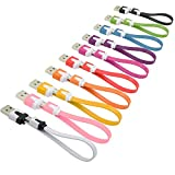Short USB Cable, OKRAY 10 Pack Colorful Micro USB 2.0 Charging Data Sync Cable Cord Compatible for Samsung, Android Phone, Tablet, Nexus, HTC, Nokia, LG, Sony, Many Digital Cameras-0.66ft (7.87 Inch)