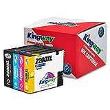 Kingway PGI-2200XL Pigment Ink Cartridges Work with Maxify MB5020 iB4120 MB5320 MB5420 MB5120 iB4020 Printer 4 Pack(1 Black,1 Cyan,1 Magenta,1 Yellow