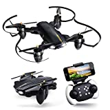 Drone with Camera for Adults, JoyGeek Foldable FPV RC Quadcopter Kids Beginners Gift, WiFi Live Video Aircraft VR 2.4GHz 6-Axis Gyroscope Altitude Hover Airplane Remote Control for Apple iPhone