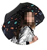 3Pcs Get 1Pc Free Fiberglass Windproof 5 Times Black Coating Anti-Uv Parasol Pocket Folding Printed Umbrella,Universal Space