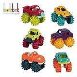 Battat Mini Monster Trucks - Set of 6 Mini Trucks for Toddlers in Storage Bag for 2 years +
