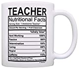 Teaching Gifts Teacher Nutritional Facts Label Classroom Decorations Gift Coffee Mug Tea Cup White