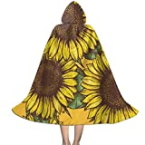 Perfectly Customized Clokes with Hoods for Kids Summer Sunflowers Hooded Cape for Halloween Costumes Riding Cosplay