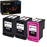 Cartlee Pack of 3 Remanufactured 61XL High Yield Ink Cartridges for Deskjet 1000 1010 1050 1055 1510 1512 2000 2050 2510 2512 2540 2542 2543 2549 3000 3050 Envy 4500 4501 4502 4503 4504 (Black, Color)