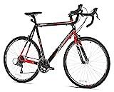 Giordano Libero 1.6 Road Bike, Black/Red, 63cm/Large