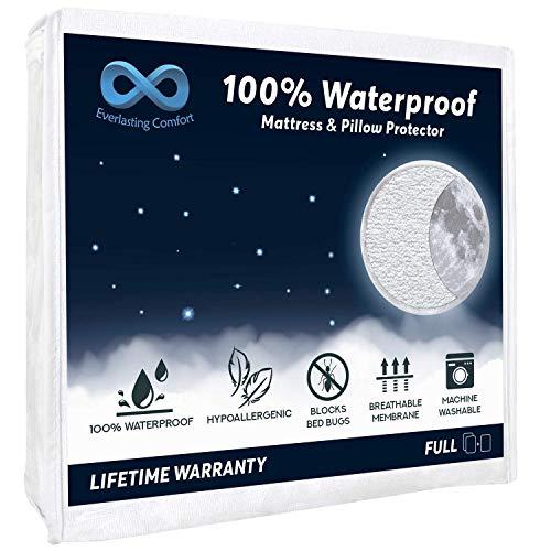 100% Waterproof Mattress Protector (Full) and 2 Free Pillow Protectors
